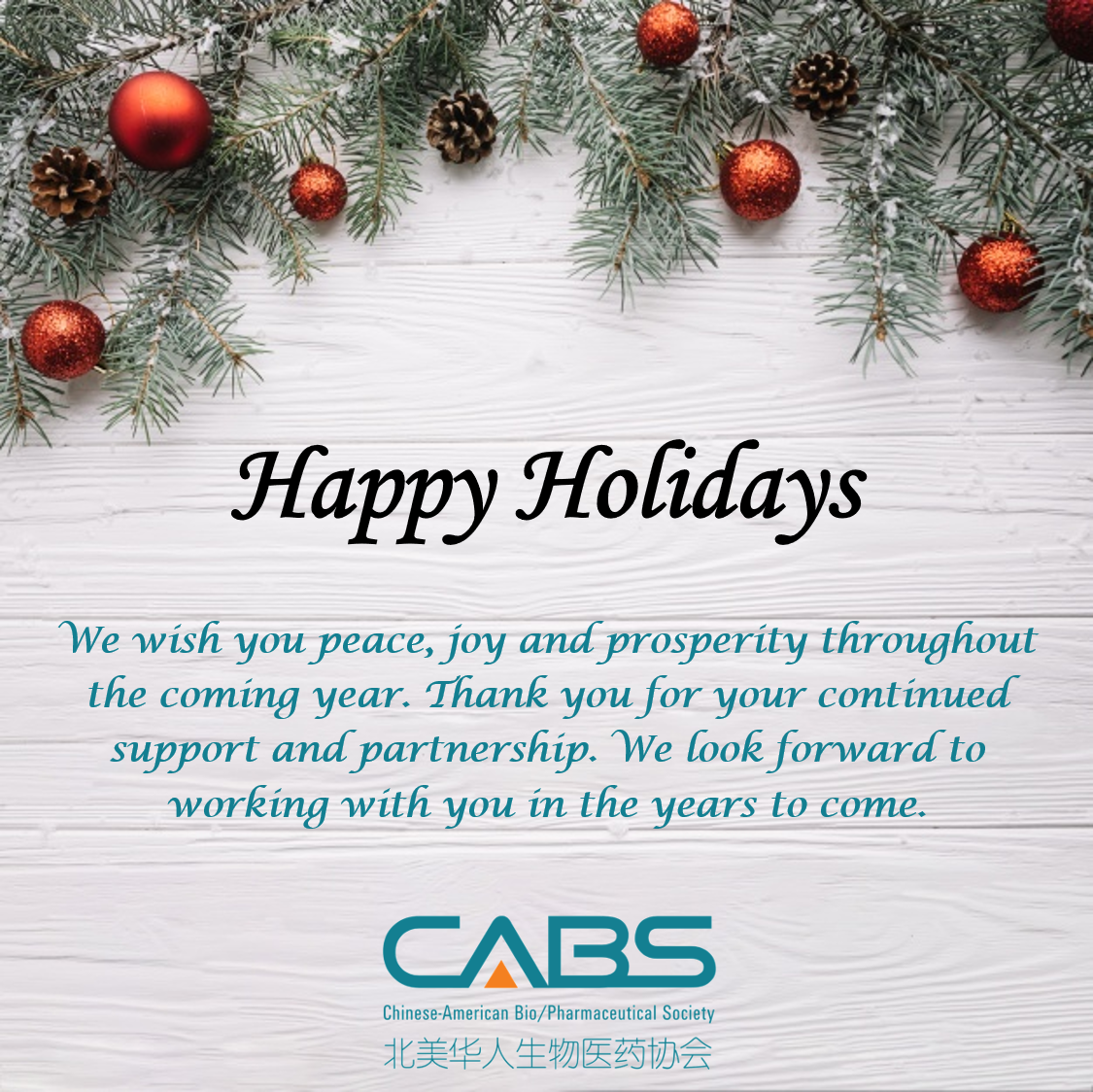Happy Holiday from CABS!